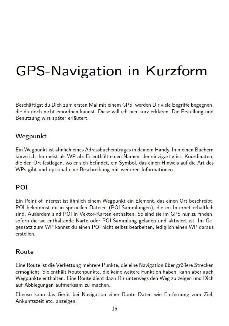 eTrex Anleitung Handbuch S15