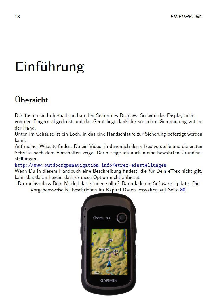 eTrex Anleitung Handbuch S18