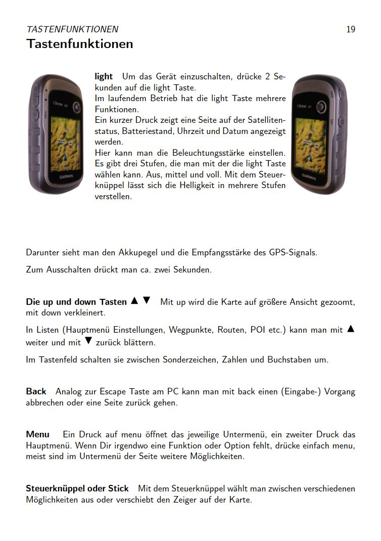 eTrex Anleitung Handbuch S19