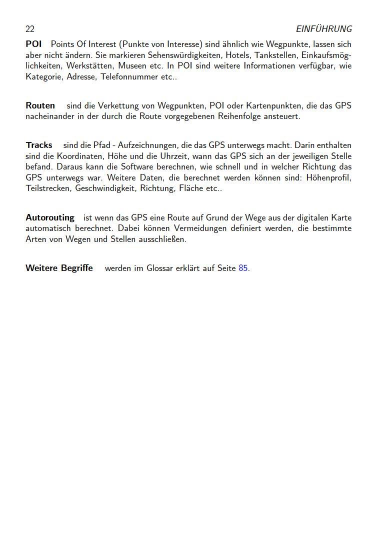eTrex Anleitung Handbuch S22