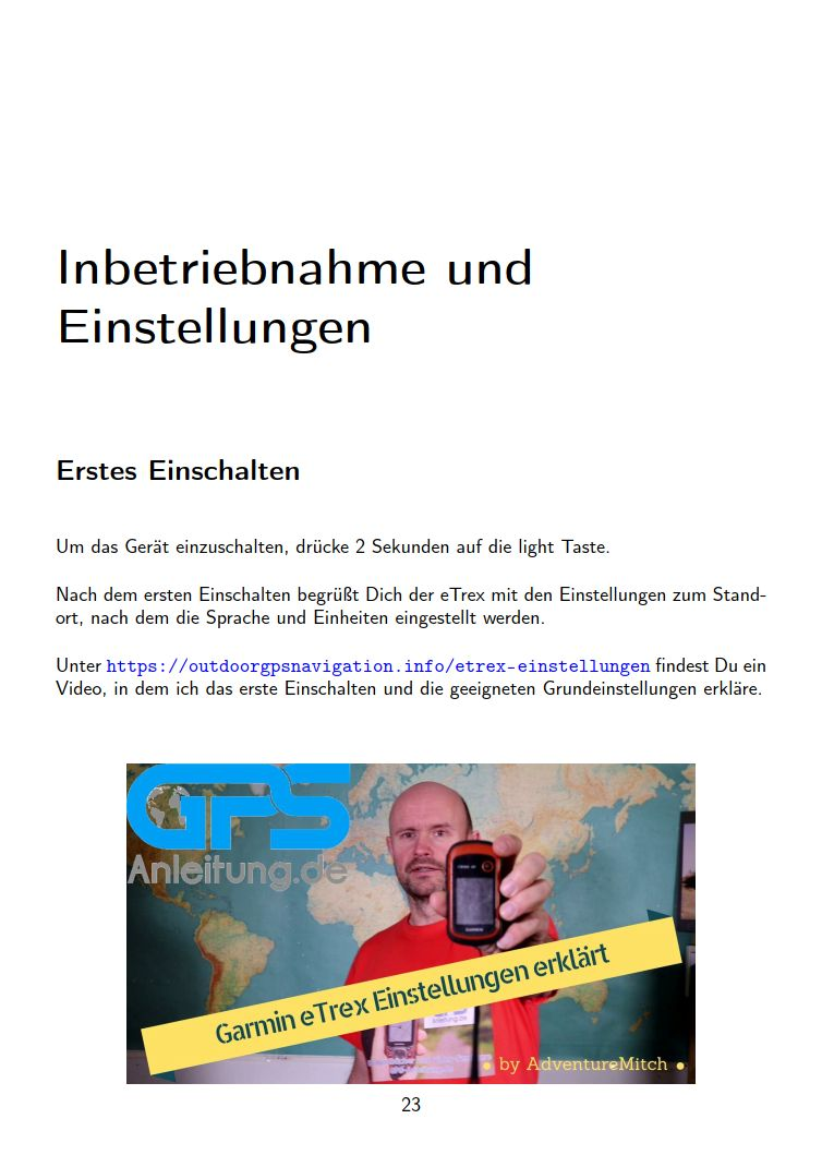 eTrex Anleitung Handbuch S23