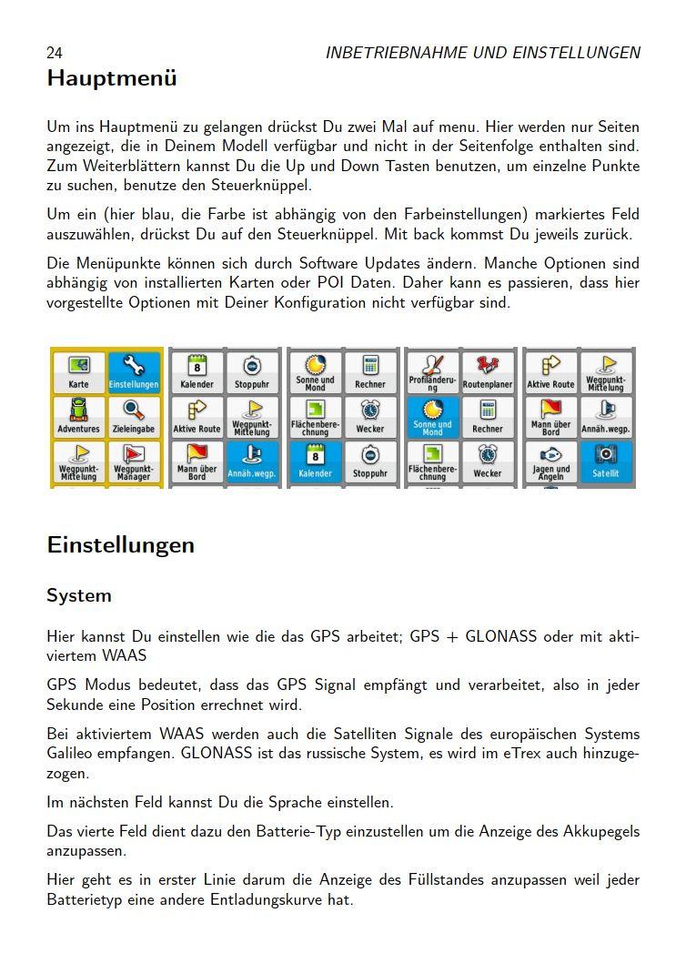 eTrex Anleitung Handbuch S24
