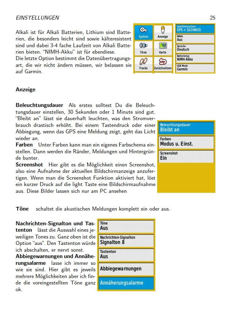 eTrex Anleitung Handbuch S25